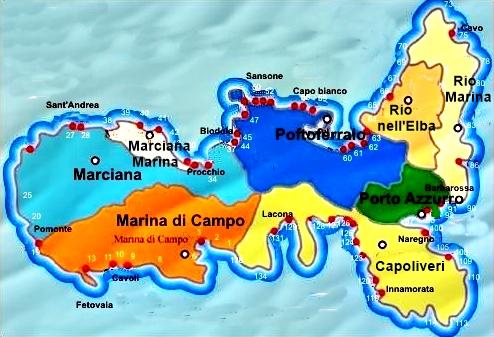 isola d'elba cartina
