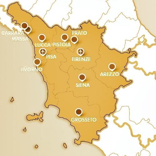mappa tuscany