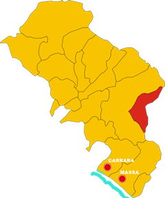 casola in lunigiana map