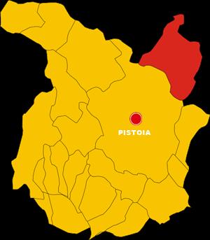 sambuca pistoiese map