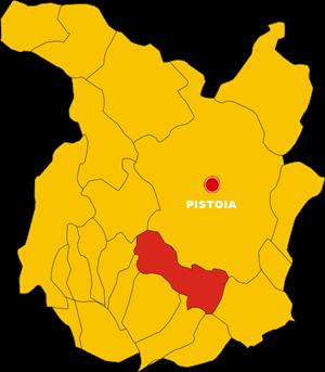 serravalle pistoiese map