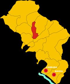 villafranca in lunigiana mappa