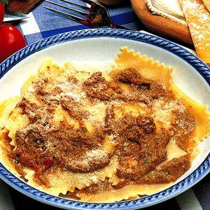 Tortelle di patata con sugo di cighiale