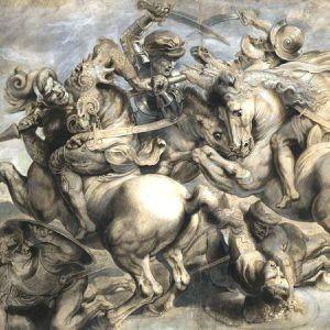 Leonardo Da Vinci - Battaglia di Anghiari (disegno)