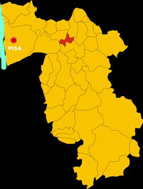 calcinaia map