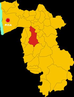 casciana terme lari map