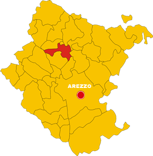 castel focognano map