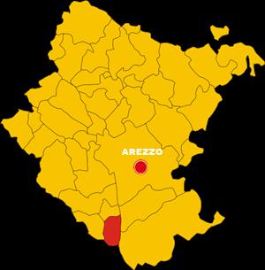 foiano della chiana map