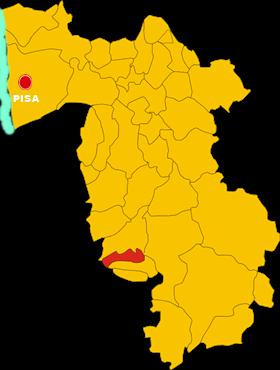 montescudaio map