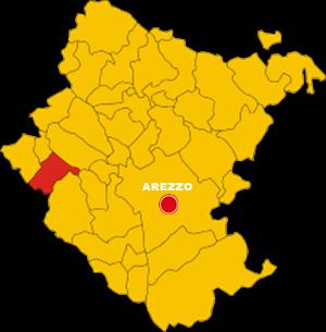 montevarchi mappa