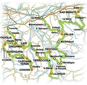 strada del vino colline pisane