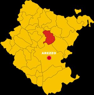 subbiano mappa