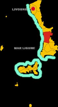 castagneto carducci map