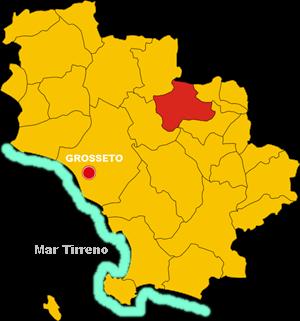 cinigiano map