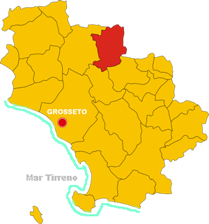 civitella paganico map