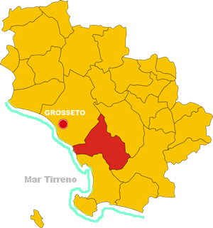 magliano in toscana map