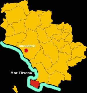 monte argentario map