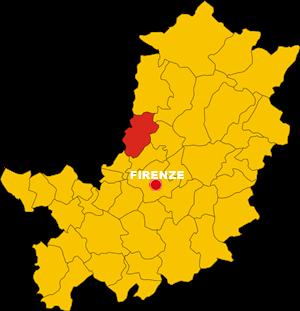 calenzano map
