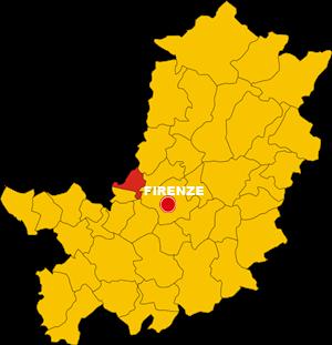 campi bisenzio map