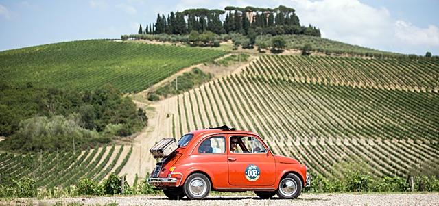 wine tour Fiat 500