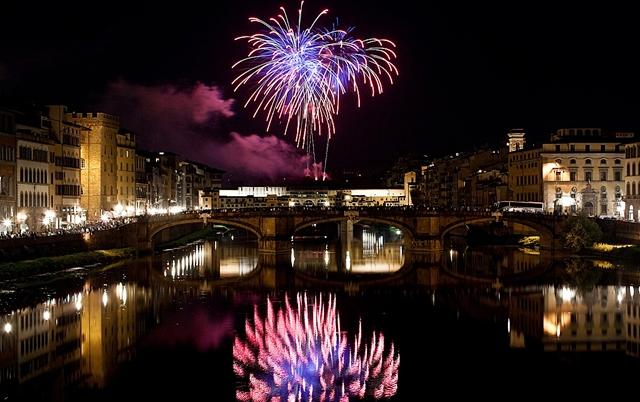 John the Baptist fireworks Florence
