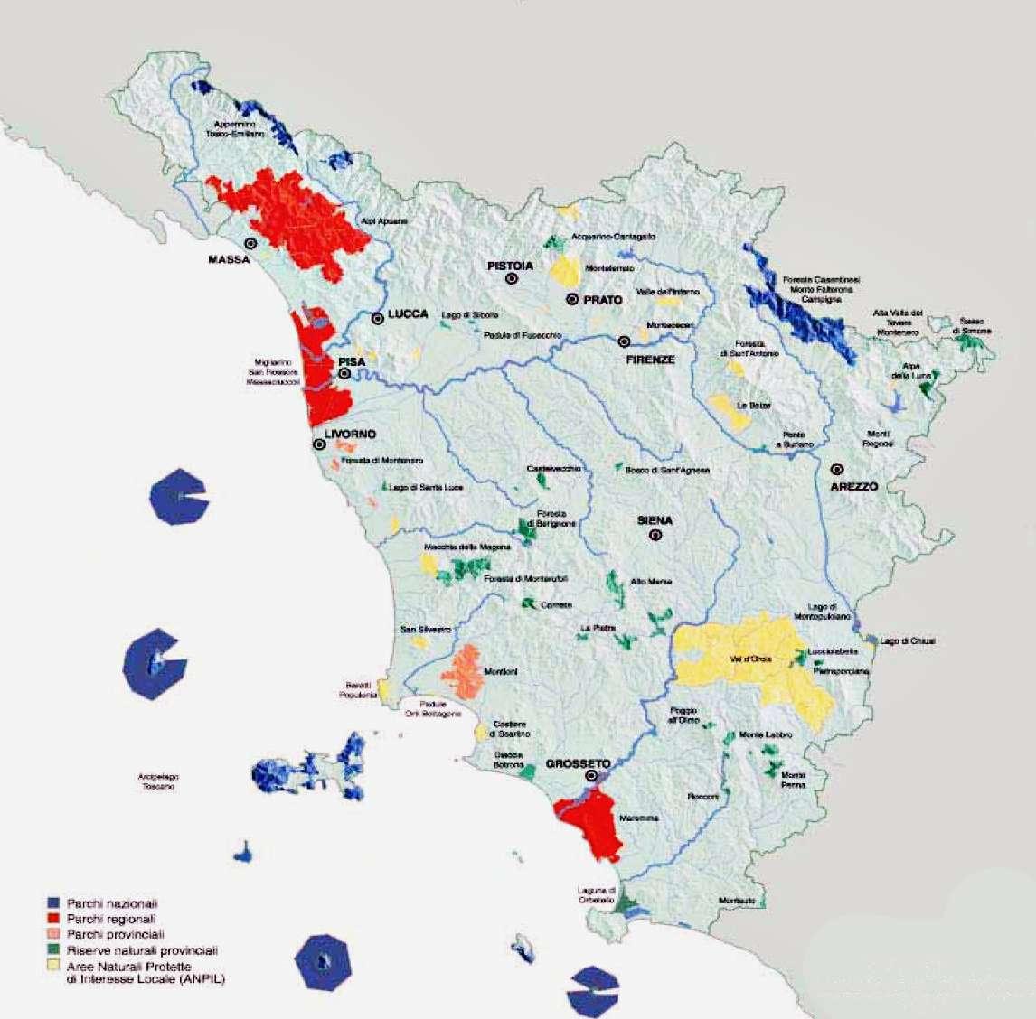 Riserve Naturali in Toscana