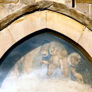 Beato Angelico - Cortona - chiesa S. Domenico - lunetta del portale