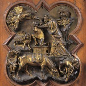 Filippo Brunelleschi - formella sacrificio di Isacco - Bargello - FI