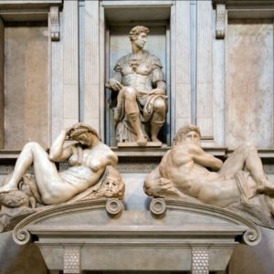 Michelangelo - Cappelle Medicee - tomba di giuliano de Medici - FI