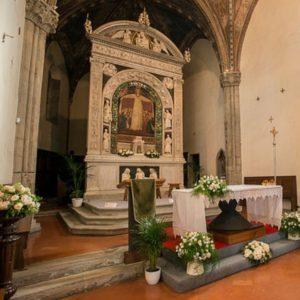 Andrea Della Robbia - altare di Santa Maria Grazie con dipinto di Parti di Spinello - AR