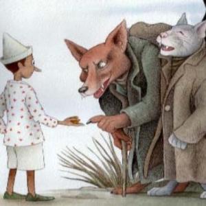 Pinocchio - cincontro con gatto e volpe