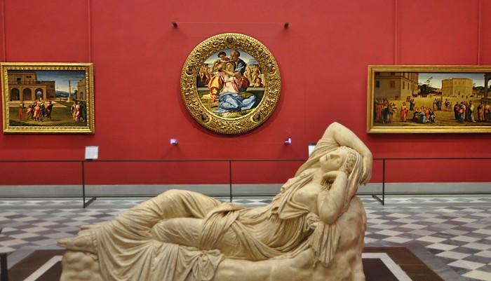 Uffizi - Tondo di Michelangelo