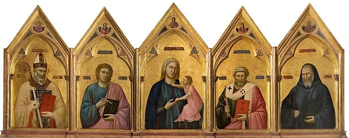 Polittico di Giotto nella Galleria degli Uffizi