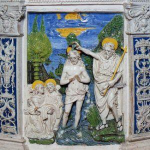 fonte battesimale Della Robbia