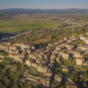 veduta aerea di Sasso d'Ombrone