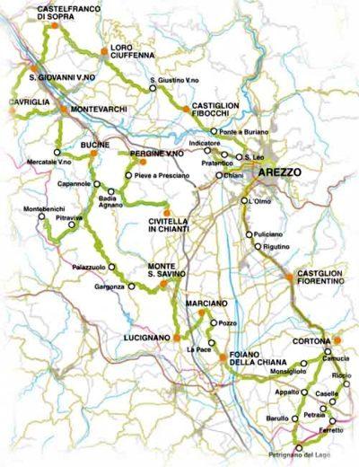 Strada del vino Terre di Arezzo