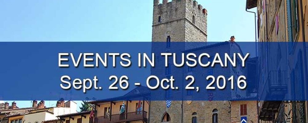 Events in Tuscany September 26 to October 2