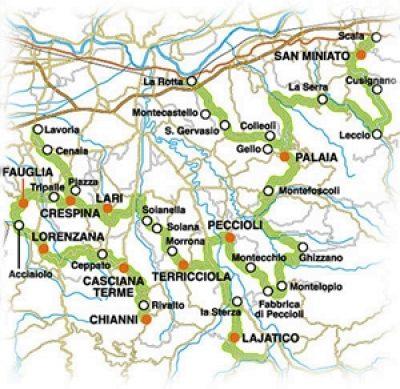 Strada del vino delle Colline Pisane